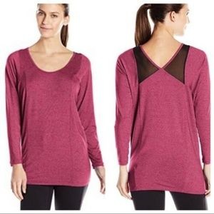 NEW Lucy Women's Burgundy Take A Pause Tunic Top